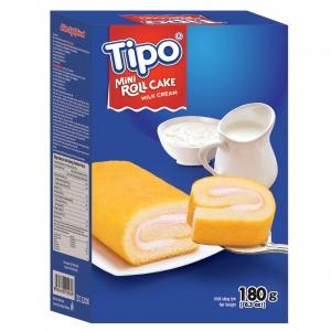 Tipo bánh bông lan cuộn vị sữa